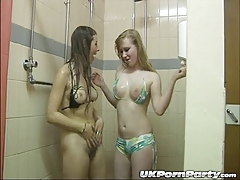 UK  Maisie Dee and Satine Spark get soapy