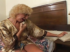 old  granny romping with youthfull
