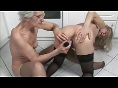 French mature and granny  in the kitchen