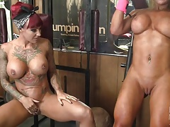Dani Andrews and Megan Avalon Muscle