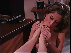 2 g/g beauties in office with a  fetish