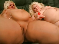 2 Ginormous Ample  Lesbians love kissing, gargling their pussies-1