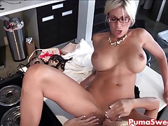 Stunner Puma Swede Nails the Office Slut!