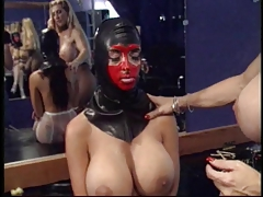tongues slave's  and puts ass-fuck beads