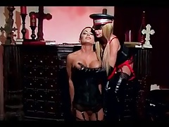 Girl/girl Dominatrix  her slave nymph a