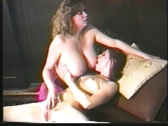 Immense tit lesbo dykes enjoy to plumb stick plumb doggy-style and  their pearls