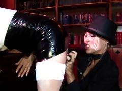 Radny fuckslut thrusts a stick in policewoman's anus