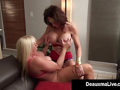 Super Hero Deauxma Belt dick Penetrates Girl-on-girl Hero Alexis Golden!