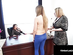 Insane College girl Kimber Lee Disciplined By Principal Jay & Teacher