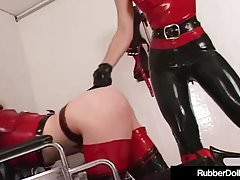 Spandex Nurse RubberDoll Experiments On Mental Patient K-La!