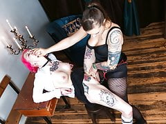 LETSDOEIT - German  Nymph Strapped & Poked by Mistress