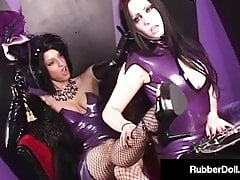 Mysterious Spandex Stunner RubberDoll Smacks Succubus Until Red!